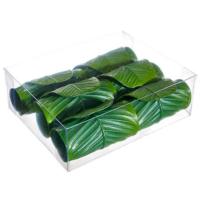 2.5 Inch Banana Leaf Napkin Ring (6 ea/acrylic box)