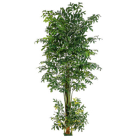 10 Foot Fishtail Palm Tree w/1426 Leaves & Square Base