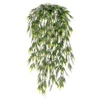 32.5 Inch Plastic Bamboo Leaf Hanging Bush