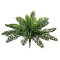 18 Inch Plastic Cycas Palm Bush with 30 Leaves