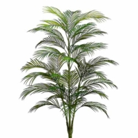 4 Foot Plastic Areca Palm Tree x5 with 33 Leaves