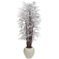 6.5 Foot White Bamboo Palm Tree