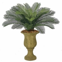 3 Foot Outdoor UV Protected Polyblend Cycas Palm Tree, 24 Fronds