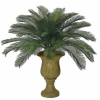 3 Foot Outdoor UV Protected Polyblend Cycas Palm, 48 Fronds