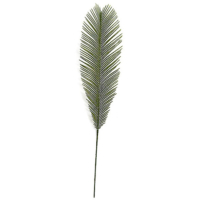 36 Inch Outdoor UV Protected Polyblend Cycas Palm Branch - Light Green