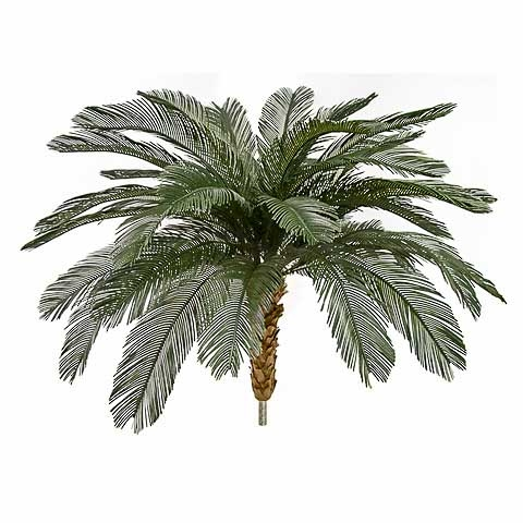 5.5 Foot x 68 Inch Outdoor UV Protected Polyblend Cycas Palm Tree