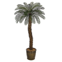 8 Foot Outdoor UV Protected Polyblend Cycas Palm Tree, 36 Fronds