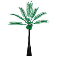 12.5 Foot Lighted Palm Tree with Dark Trunk