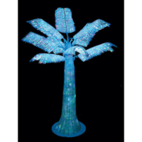 4 Foot Acrylic Lighted Palm Tree - Multi Colored